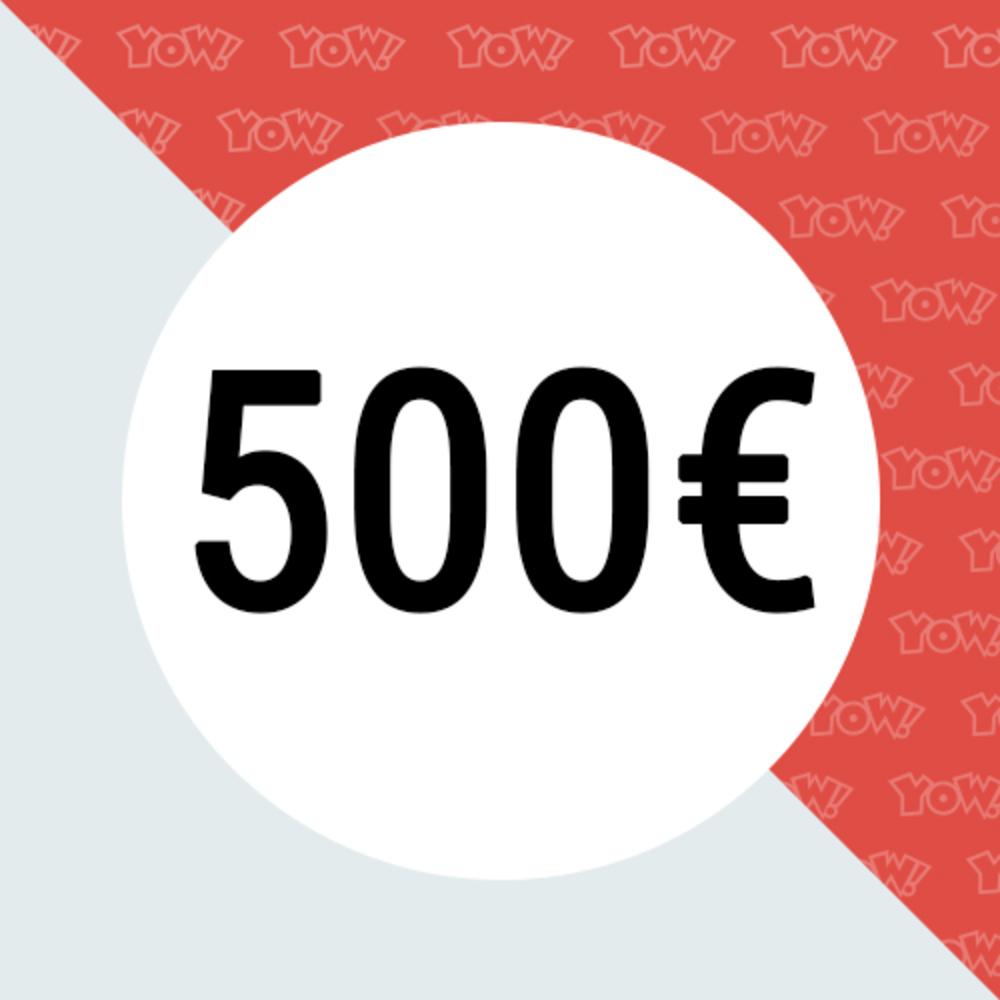YOW! Einkaufsgutschein im Wert von 500 EUR