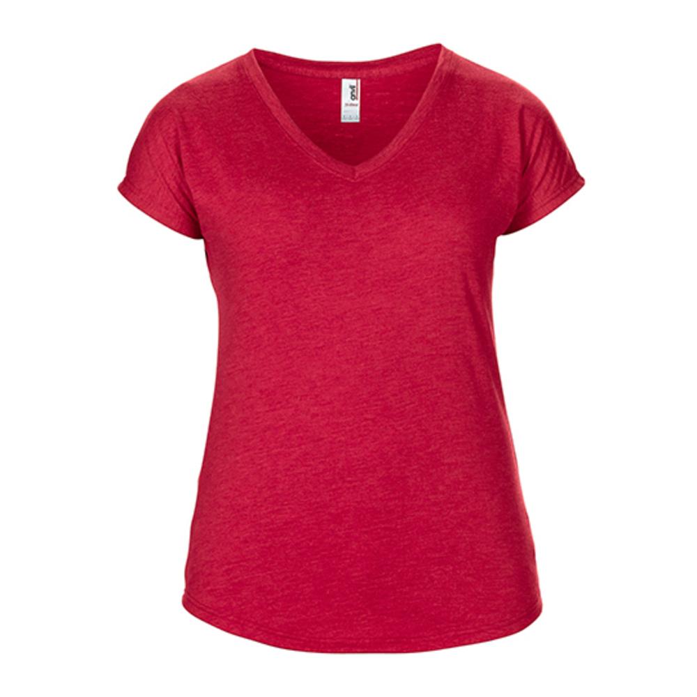 Women's tri-blend V-neck tee