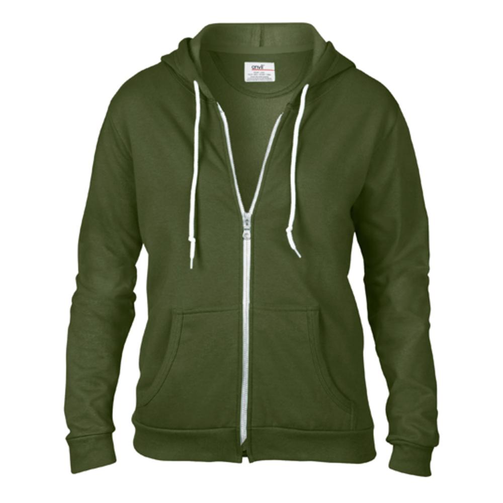 Women's full zip hooded sweat jacket