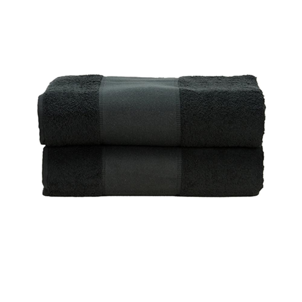PrintMe Bath Towel, 70 x 140, Black