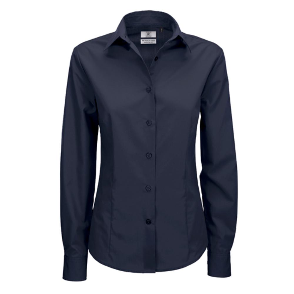 Poplin Shirt Smart Long Sleeve / Women