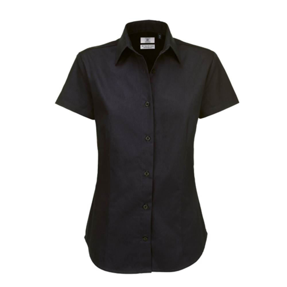 Twill Shirt Sharp Short Sleeve / Women