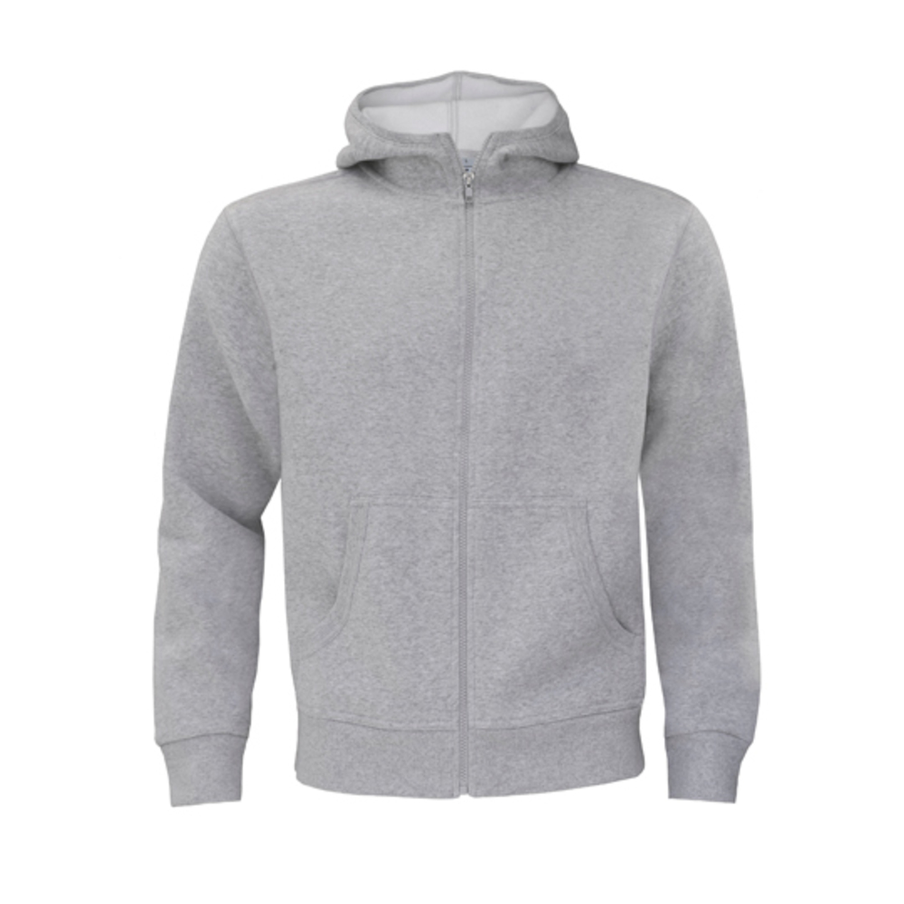 Sweat Jacket Monster / Men, XXL, Heather Grey