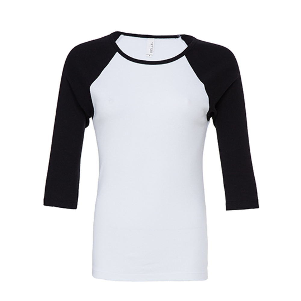 3/4-Sleeve Contrast Raglan T-Shirt