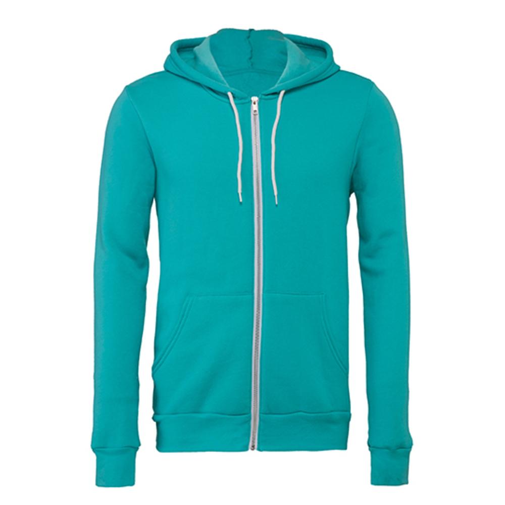 Unisex Zip-Up Poly-Cotton Fleece Hoodie