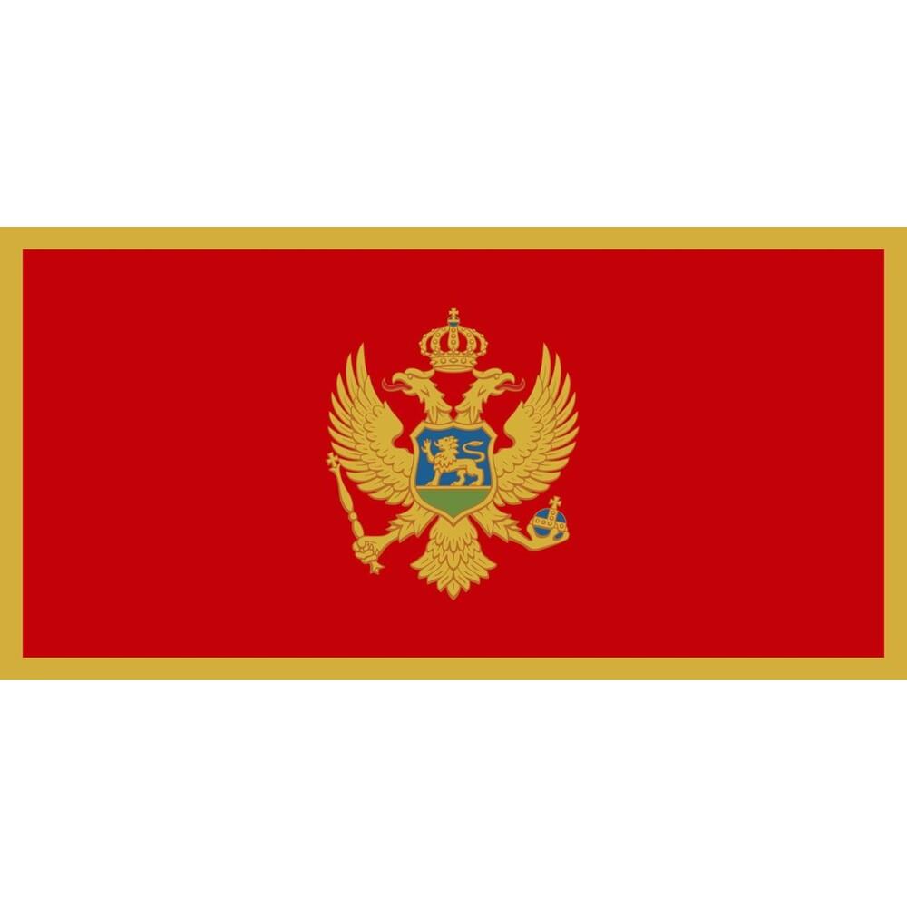Fahne Montenegro, 90 x 150, Montenegro
