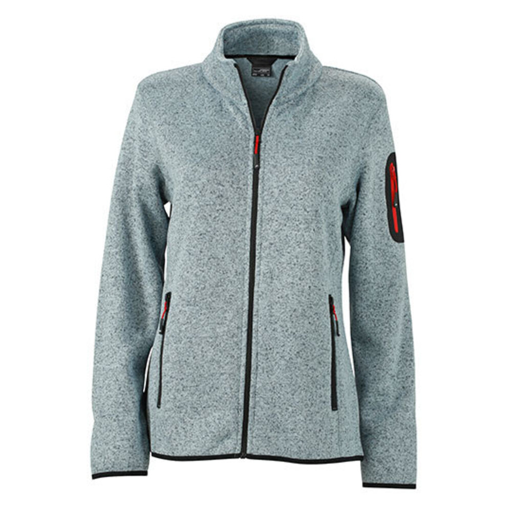 Ladies` Knitted Fleece Jacket