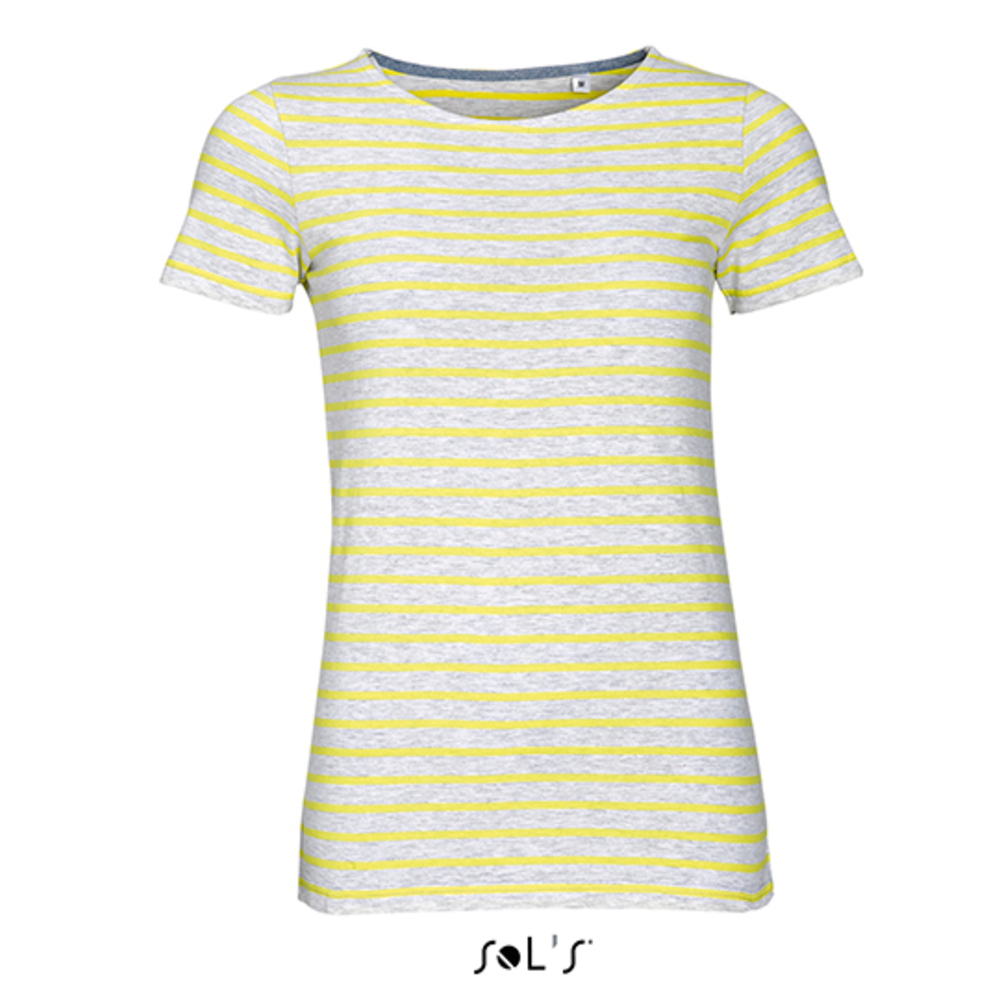 Women`s Round Neck Striped T-Shirt Miles