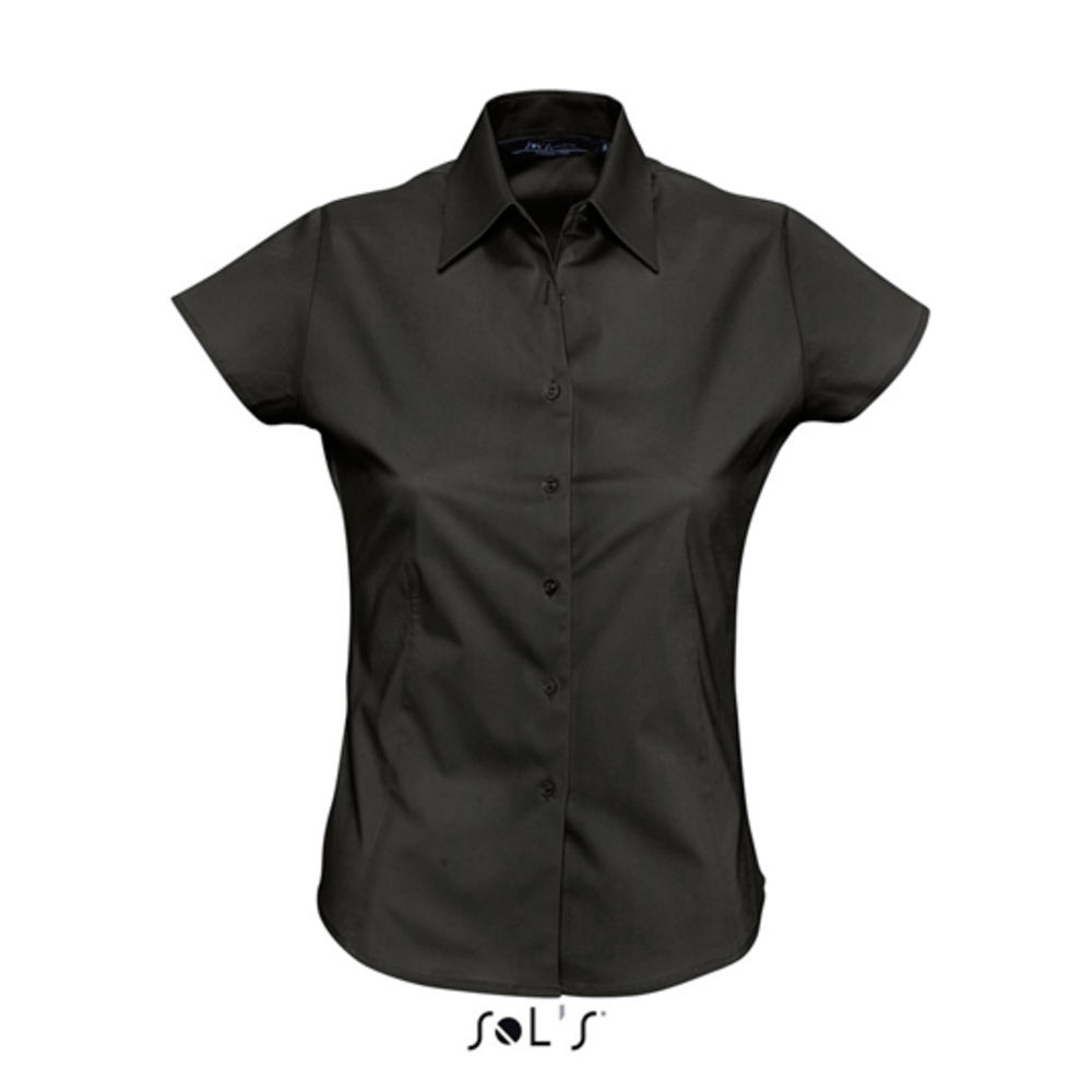 Ladies stretch short-sleeved blouse excess