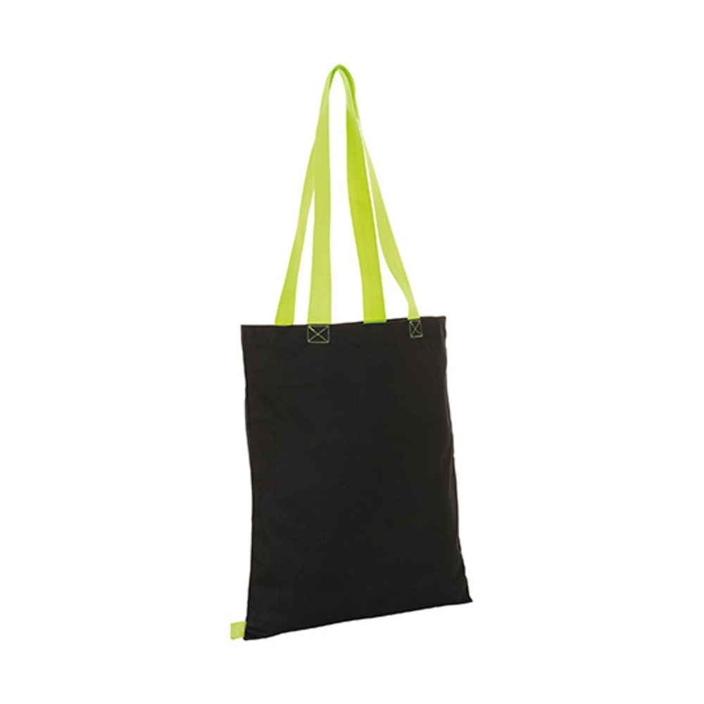 Hamilton Shopping Bag 42 x 37 Black / Neon Lime
