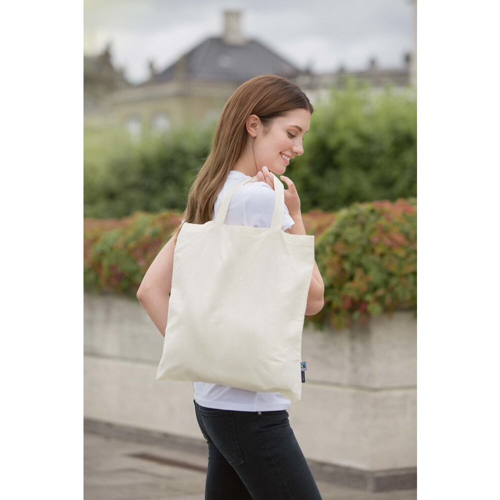 Shopping Bag Short Handles 38 x 42 Natural