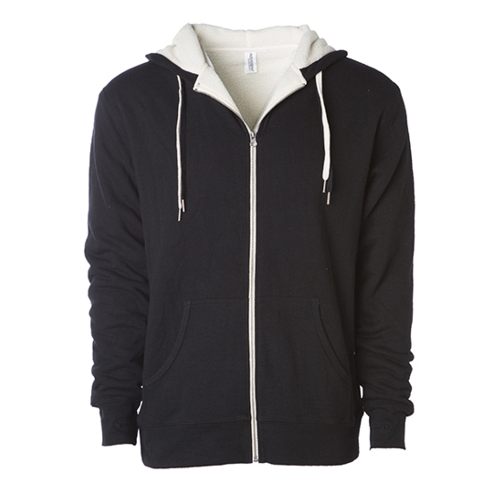 Unisex Sherpa Lined Zip Hooded Jacket