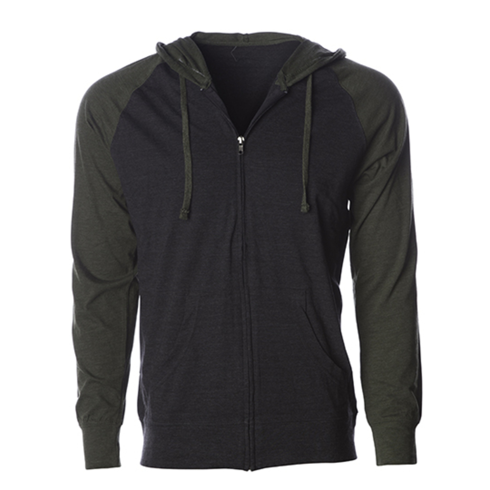 Men´s Lightweight Jersey Raglan Zip Hood