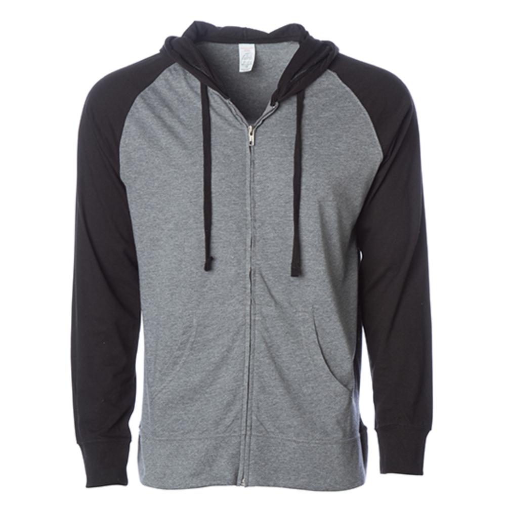 Men´s Lightweight Jersey Raglan Zip Hood