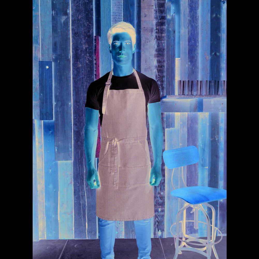 Jeans Stitch Denim Bib Apron
