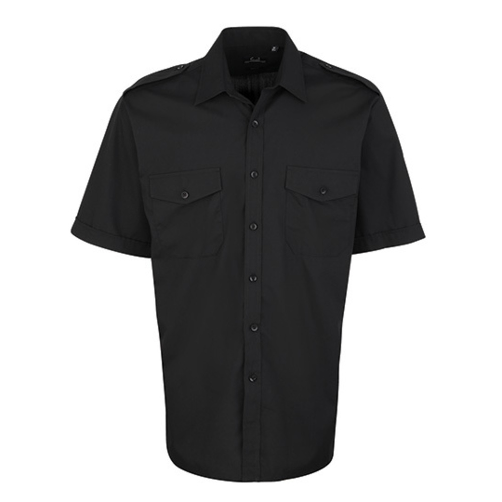 Camisa de piloto manga corta