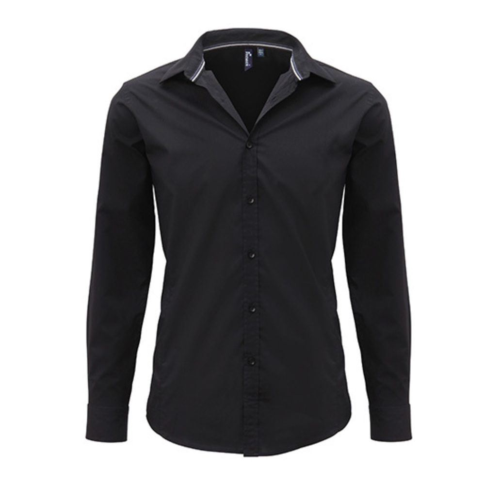 Mens Long Sleeve Fitted Friday Bar Shirt