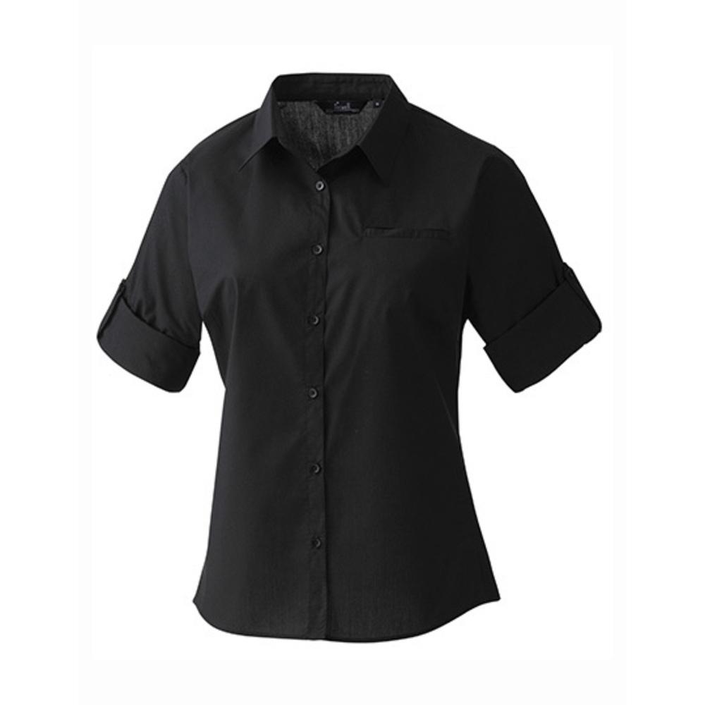 Ladies ´Roll-Sleeve´ Poplin-Bluse