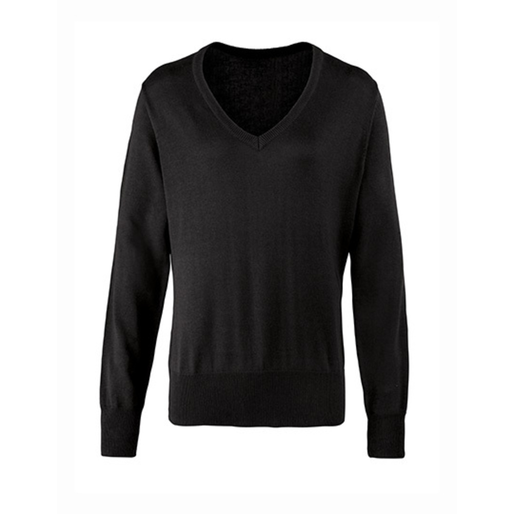 Ladies V-Neck Knitted Sweater