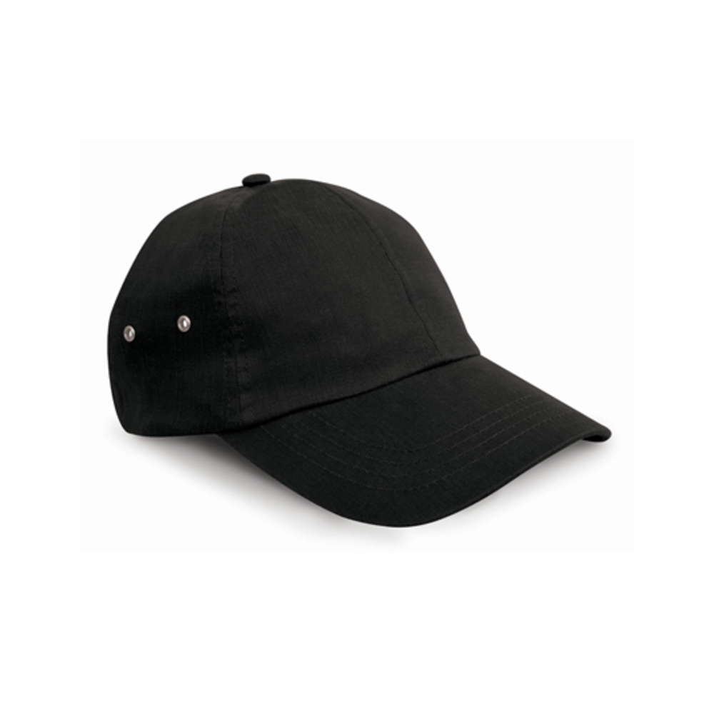 Plush Cap, Wide, Black