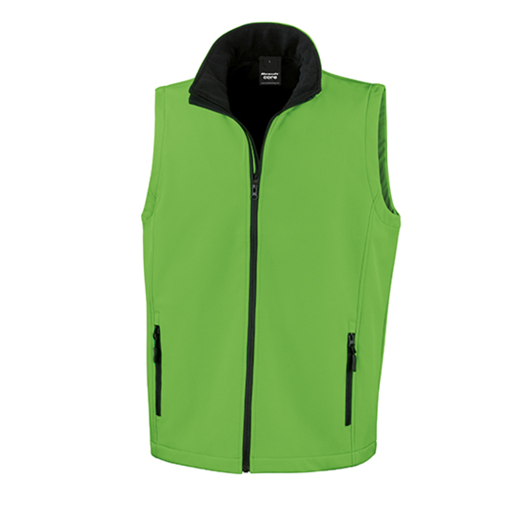 Printable Soft Shell Bodywarmer, XXL, Vivid Gre...