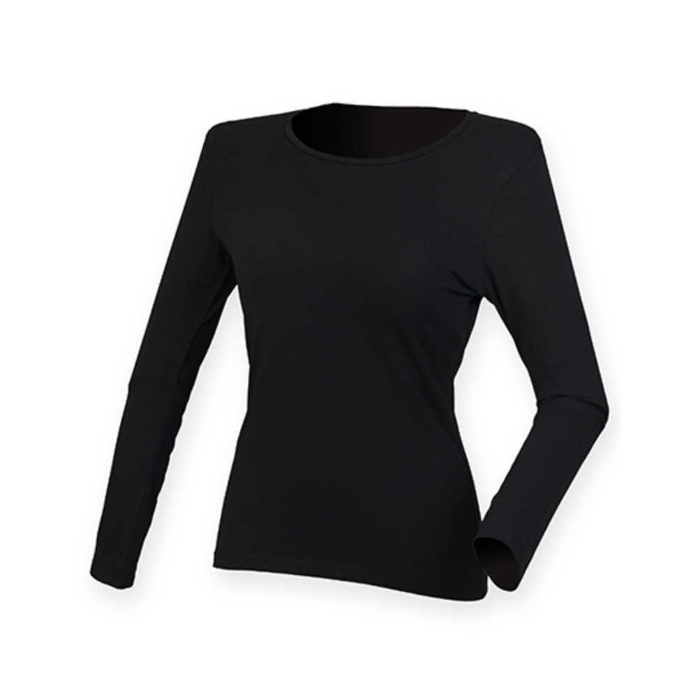 Ladies Feel Good Long Sleeved Stretch T