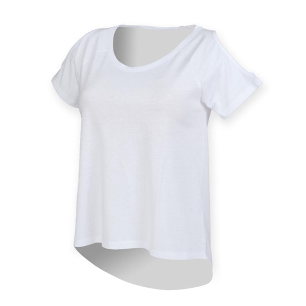 Ladies Drop Tail T XXL White