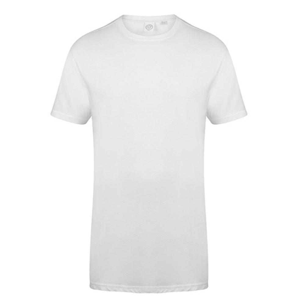 Men`s Longline T-Shirt With Dipped Hem