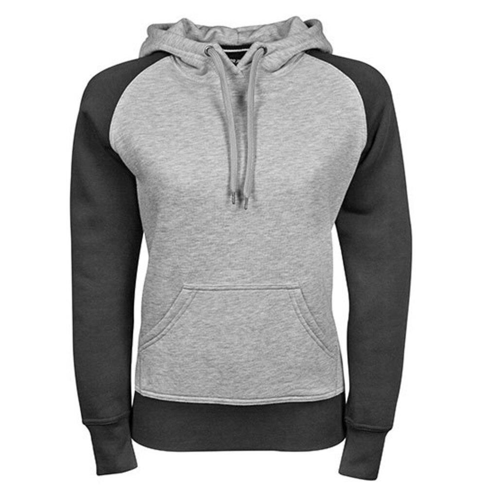 Ladies Two-Tone Hooded Sweatshirt