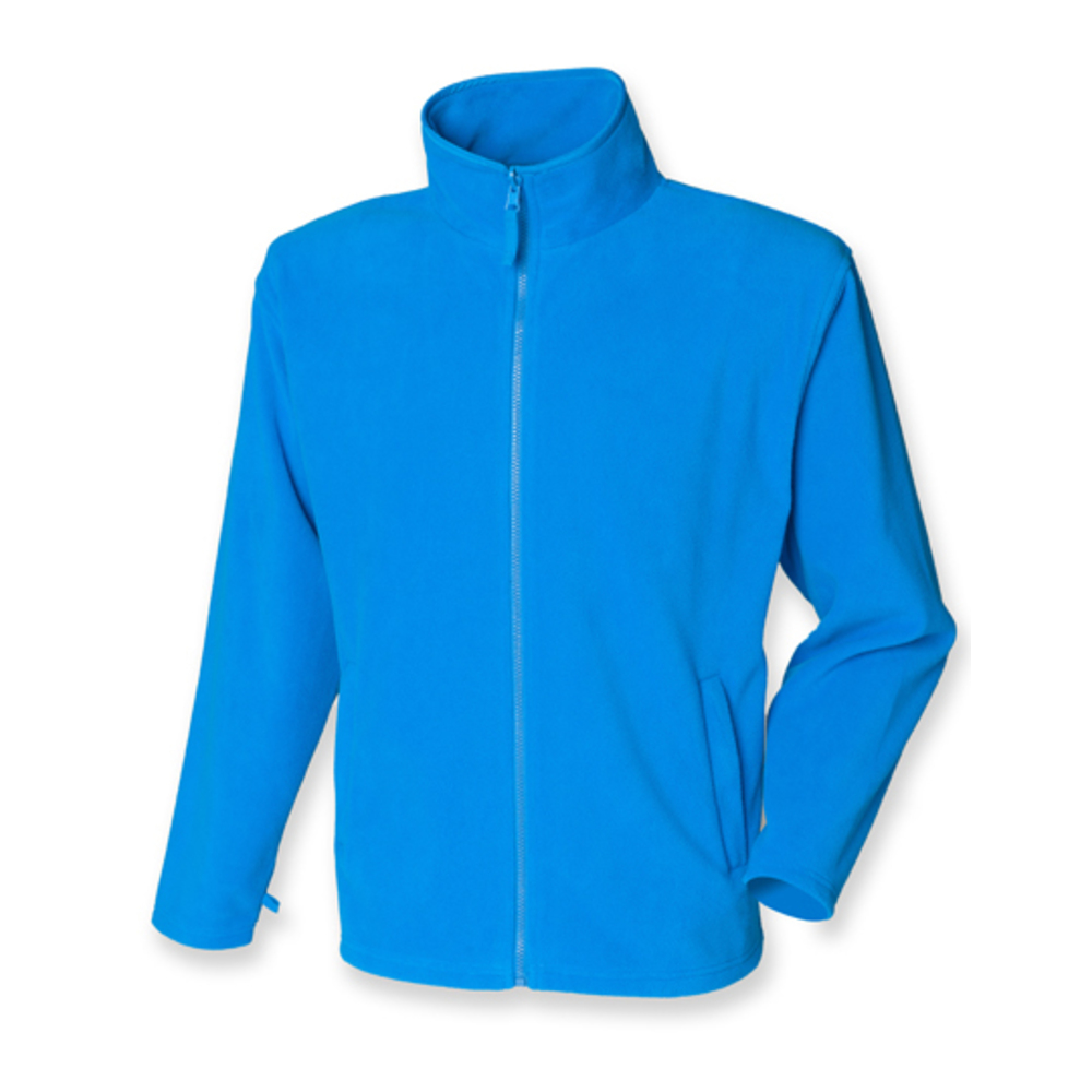 Men`s Microfleece Jacket, XXL, Vivid Blue