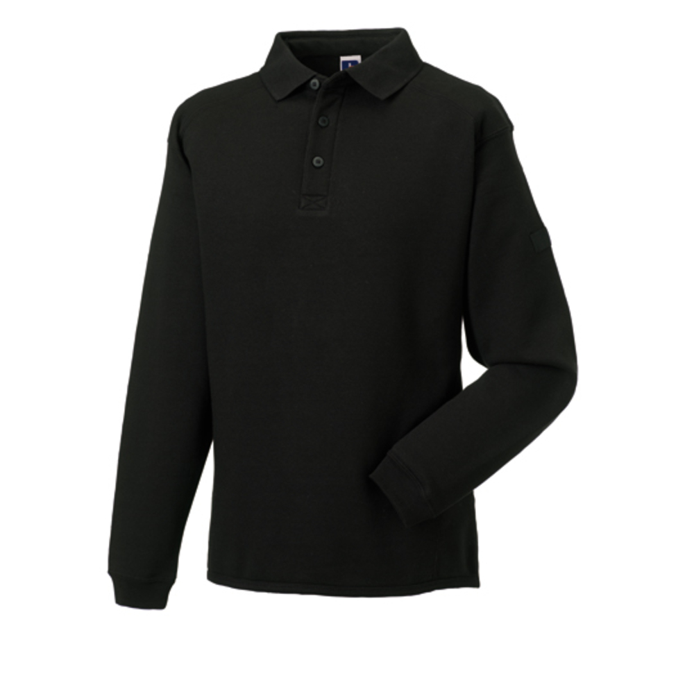 Workwear sweatshirt with collar and placket
