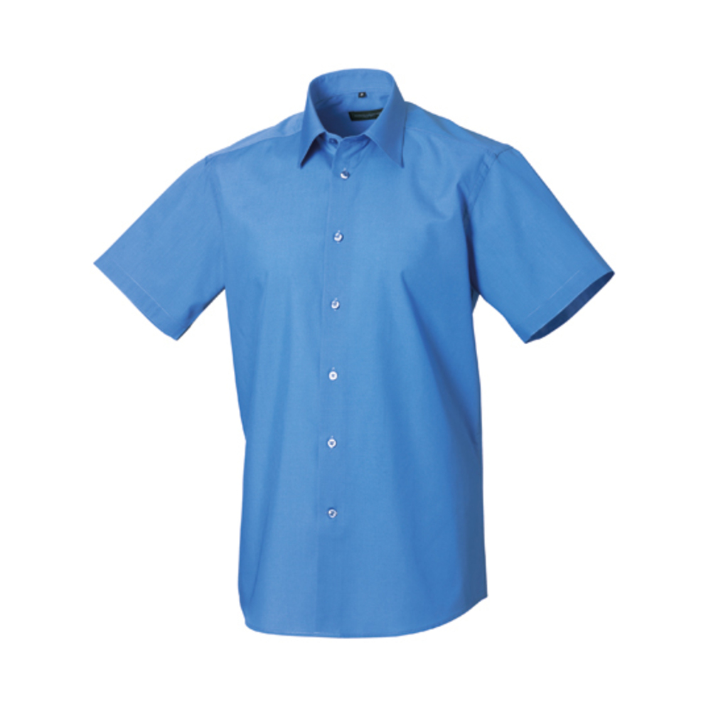 Men´s Short Sleeve Polycotton Tailored Poplin Shirt