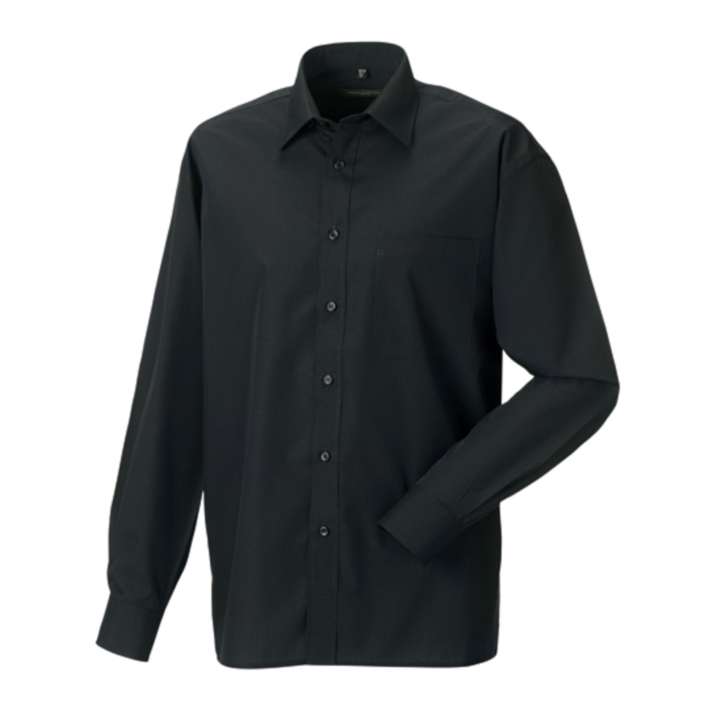 Men´s Long Sleeve Polycotton Poplin Shirt