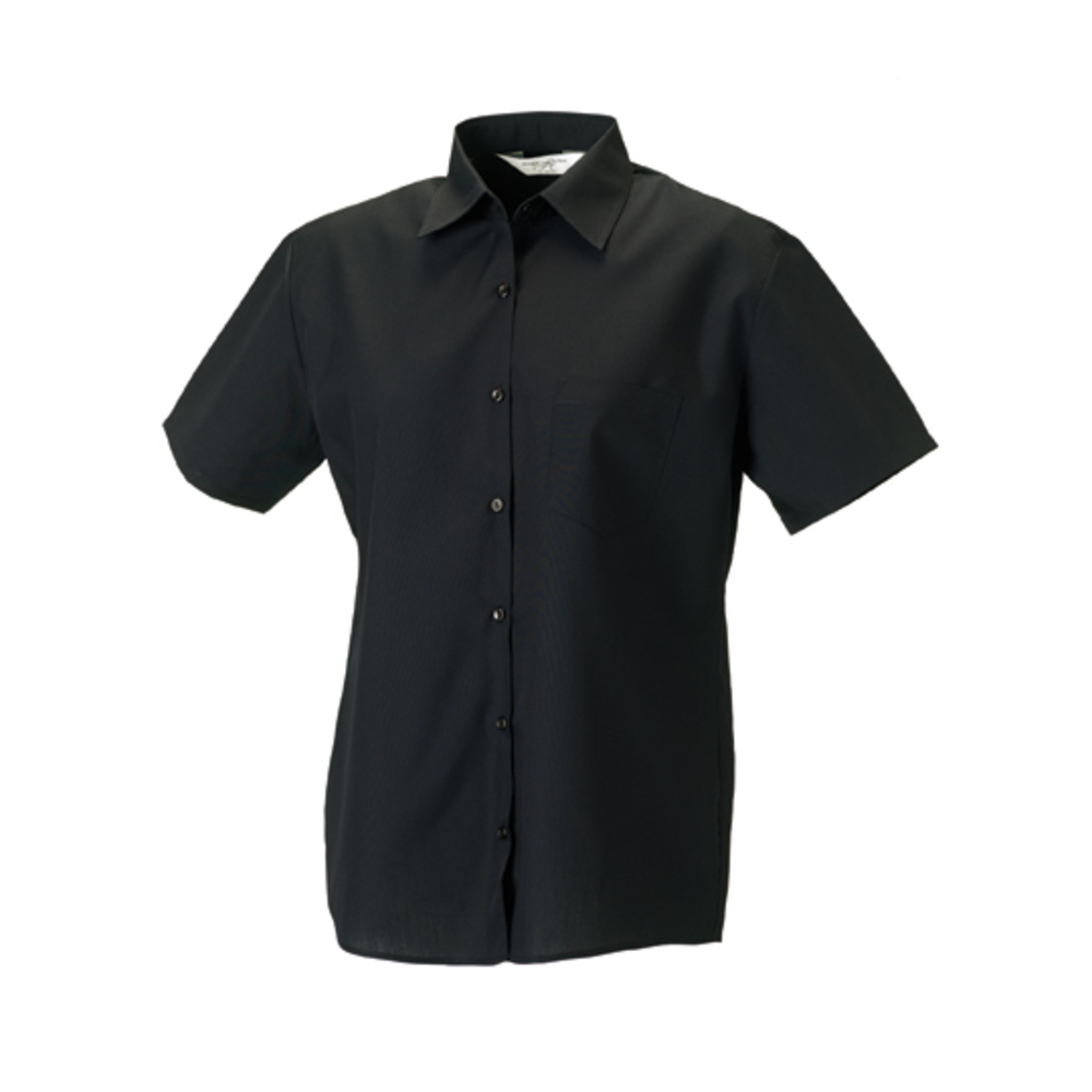 Ladies? short sleeve polycotton poplin shirt
