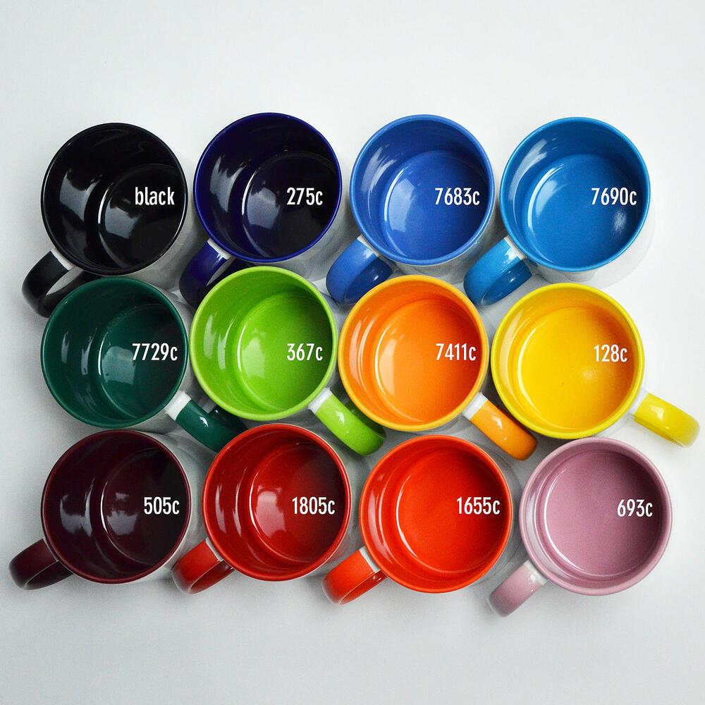 Subli Mug Two Tone pink 11 oz (12 Stk.)