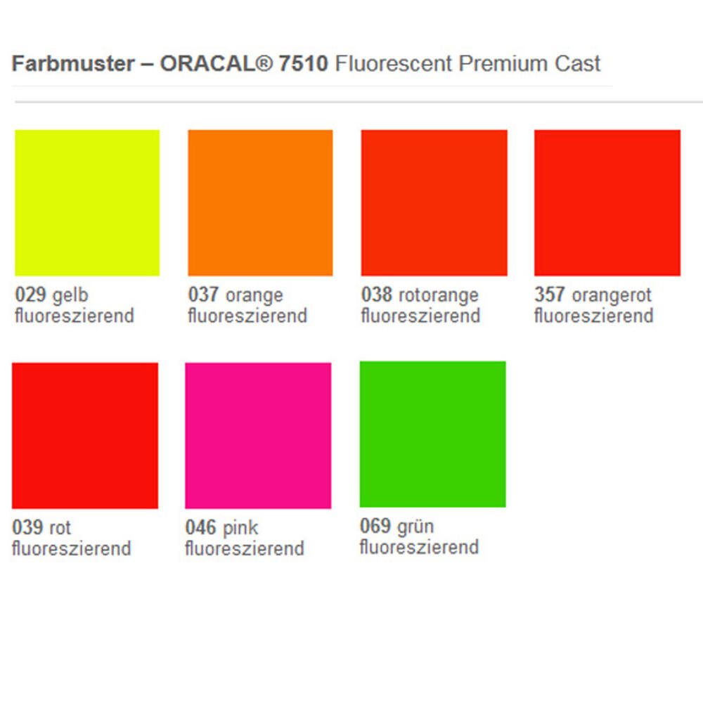 ORACAL 7510 Fluorescent Premium Cast 037 Orange Fluor 126 cm