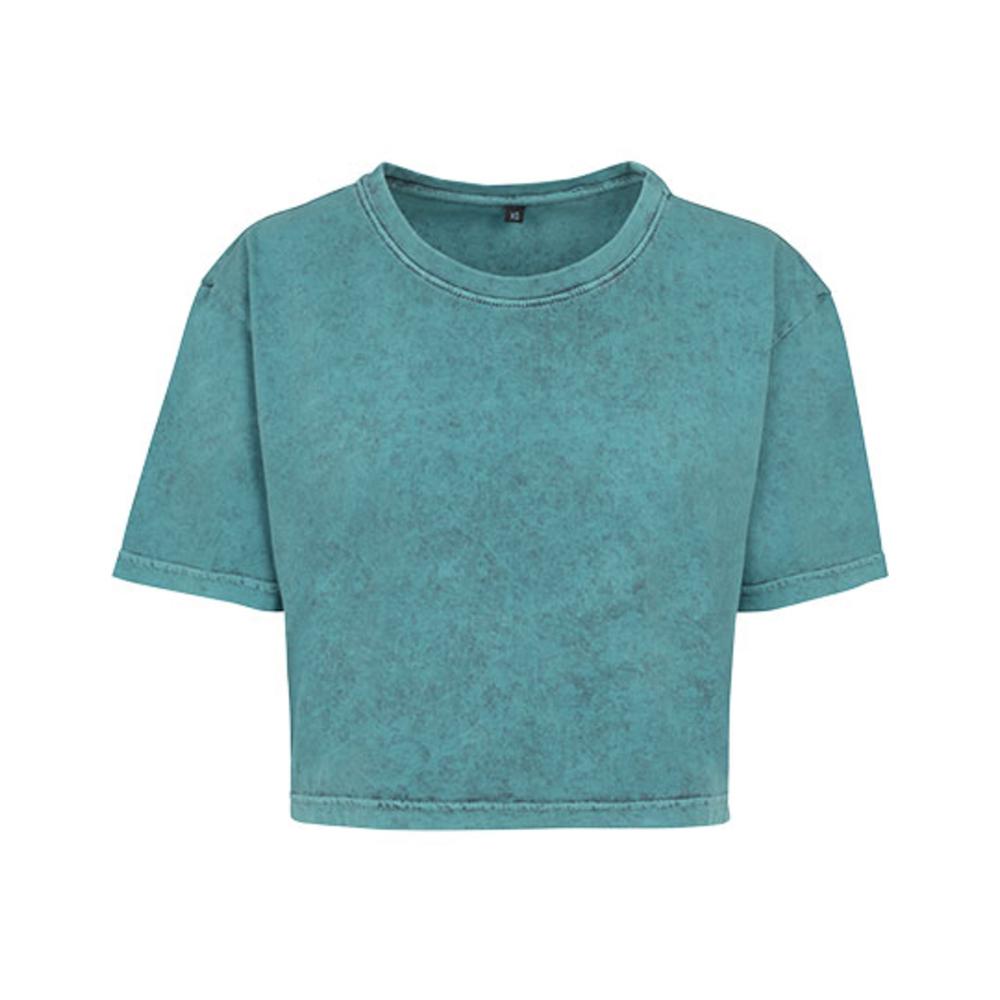 Maglietta corta da donna lavata con acido