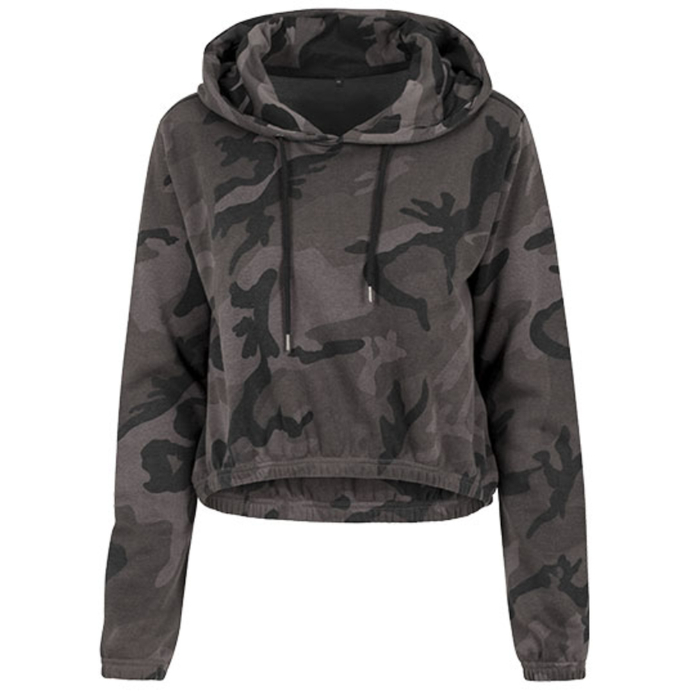 Ladies` Camo Cropped Hoody