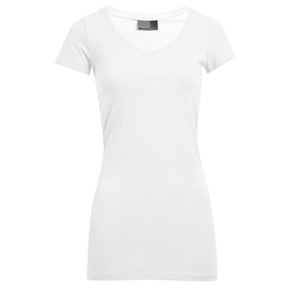Slim Fit para mujer con cuello en V y camiseta larga