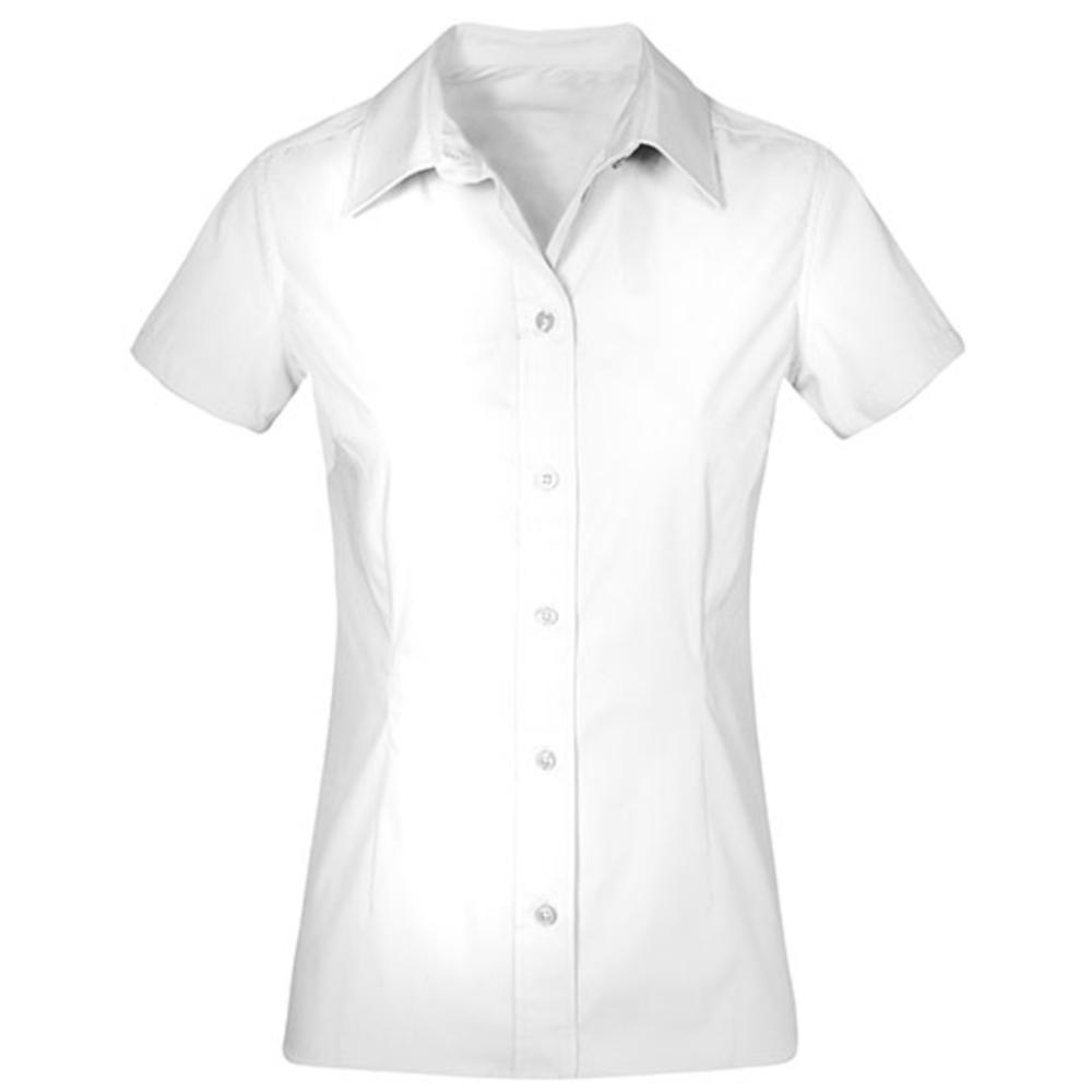 Chemise femme en popeline manches courtes
