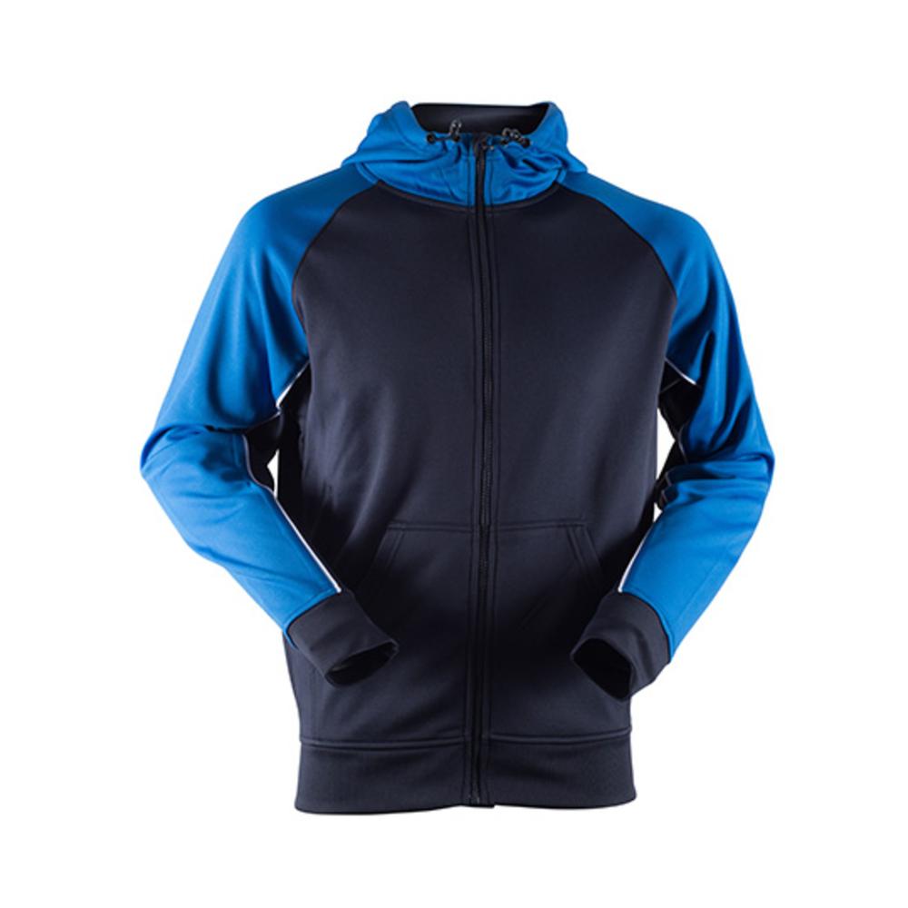 Sudadera deportiva con capucha panelada