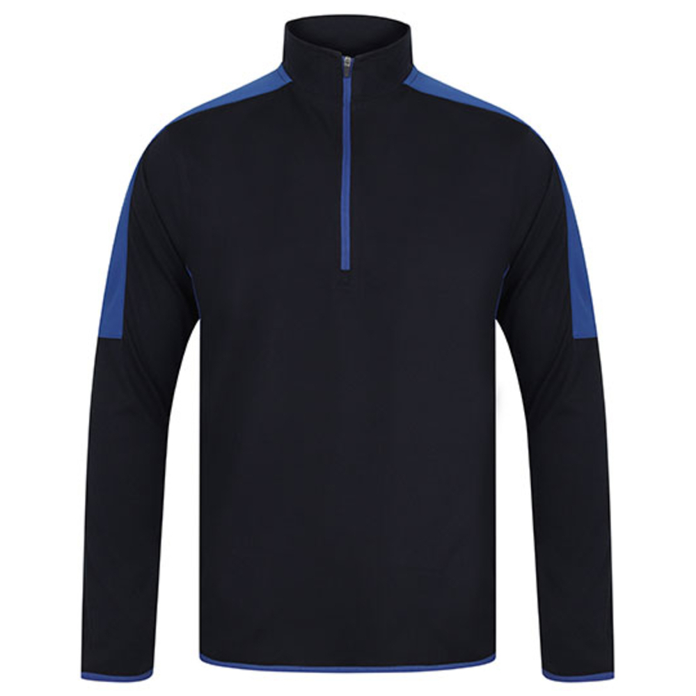 Adults` 1/4 Zip Midlayer with Contrast Panelling