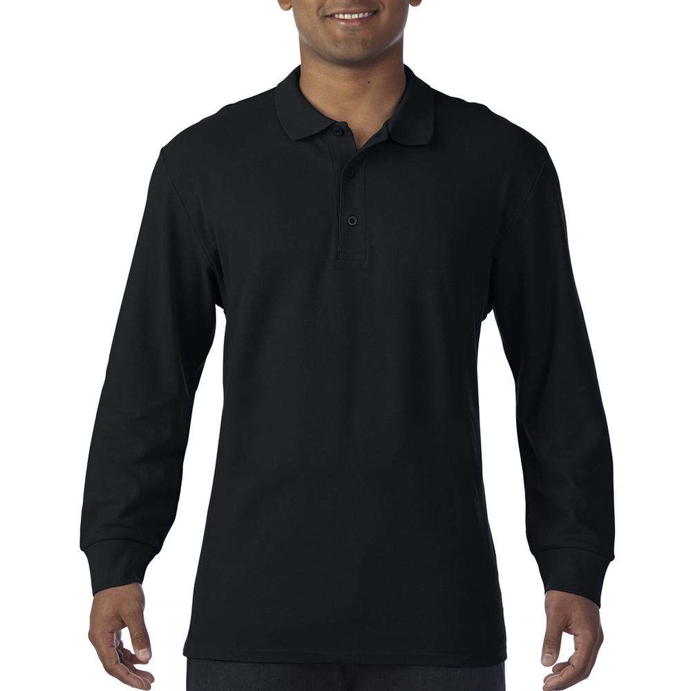 Premium Cotton® Long Sleeve Double Piqué Polo