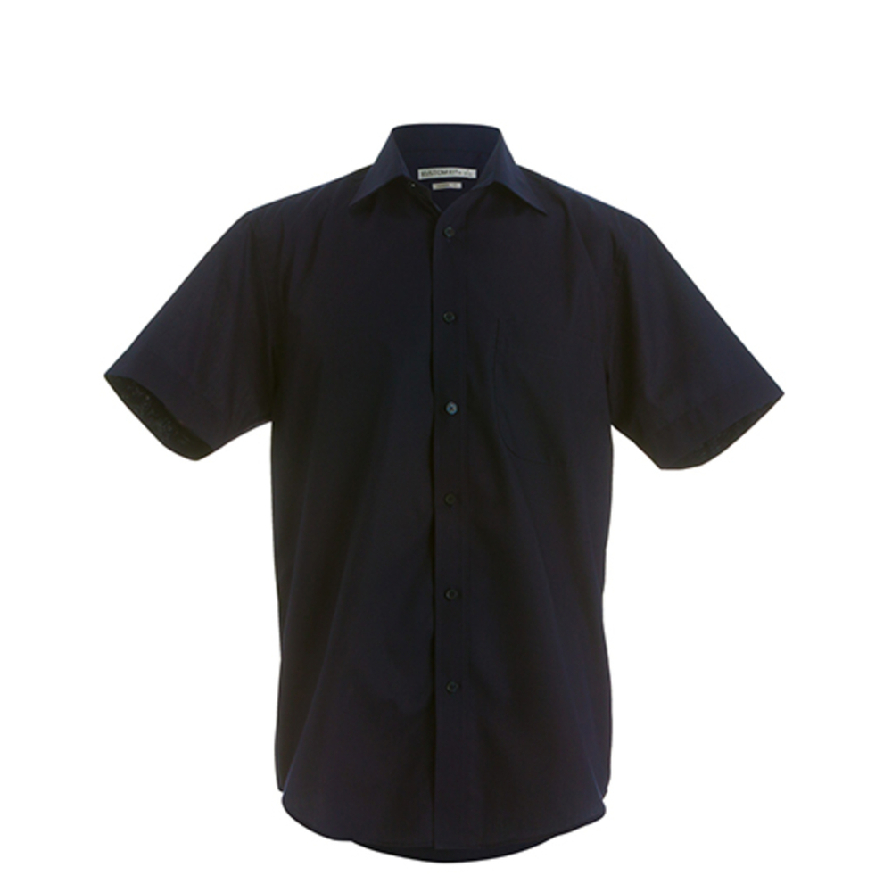 Camisa de negocios de corte clásico para hombre de manga corta