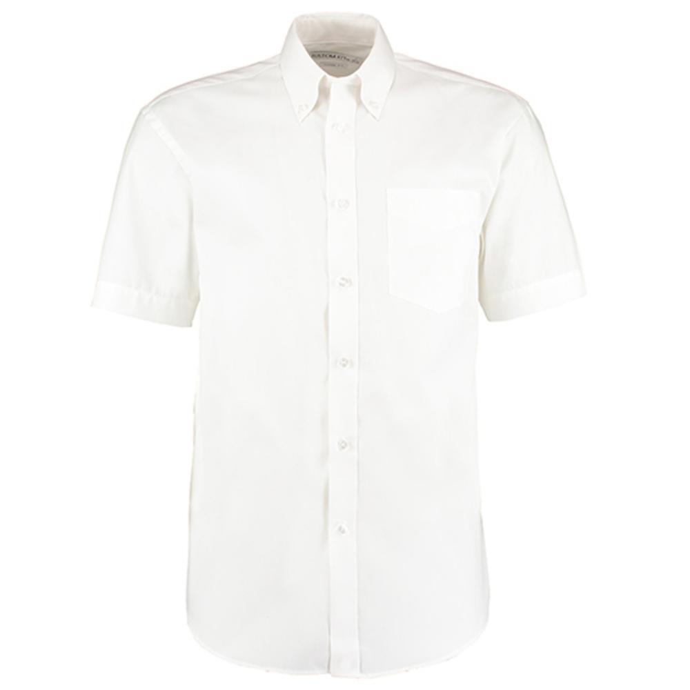 Camicia Oxford corporativa dal taglio classico da uomo a manica corta