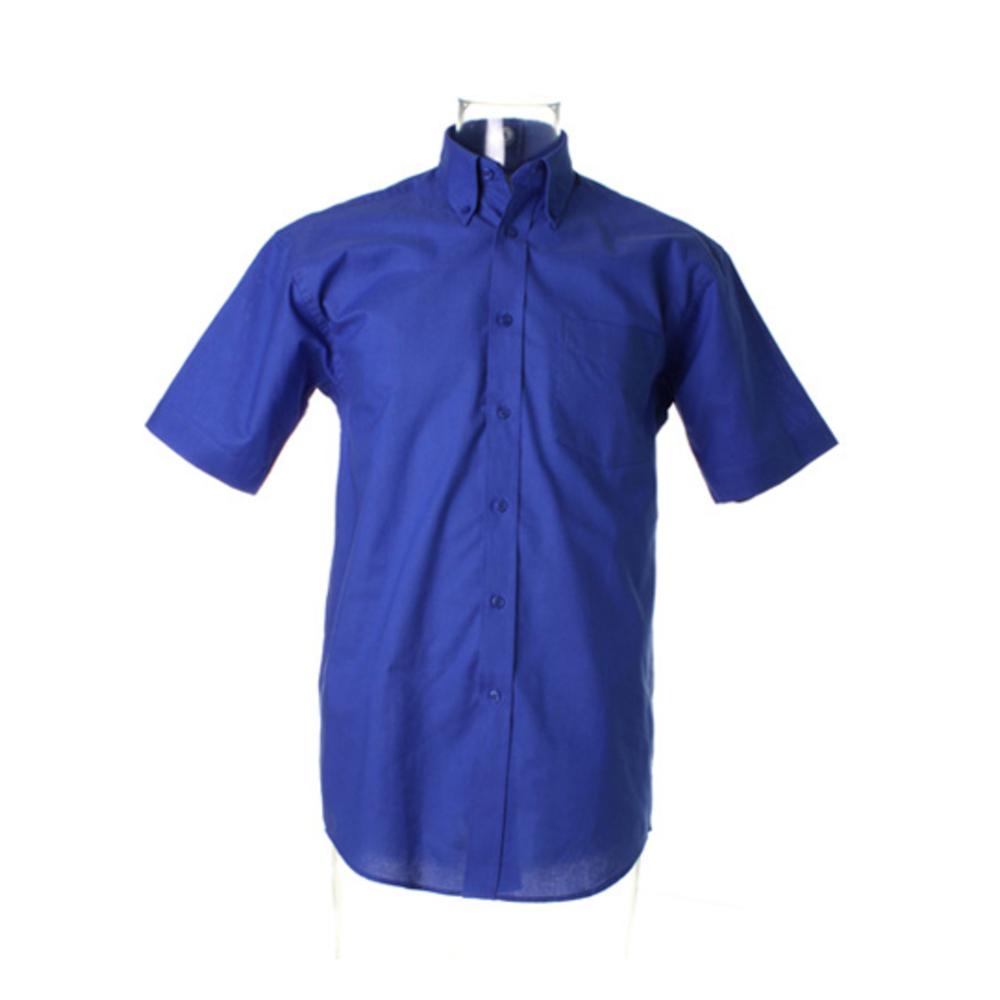 Chemise Oxford à manches courtes pour hommes, coupe classique