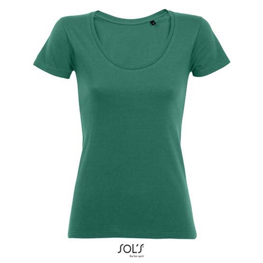 Camiseta de mujer Metropolitan de corte bajo con cuello redondo