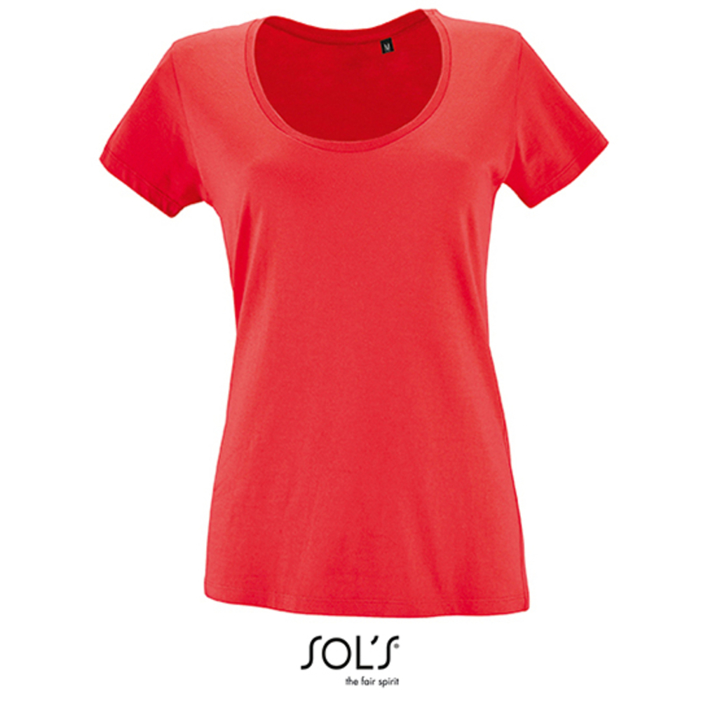 Women`s Low-Cut Round Neck T-Shirt Metropolitan