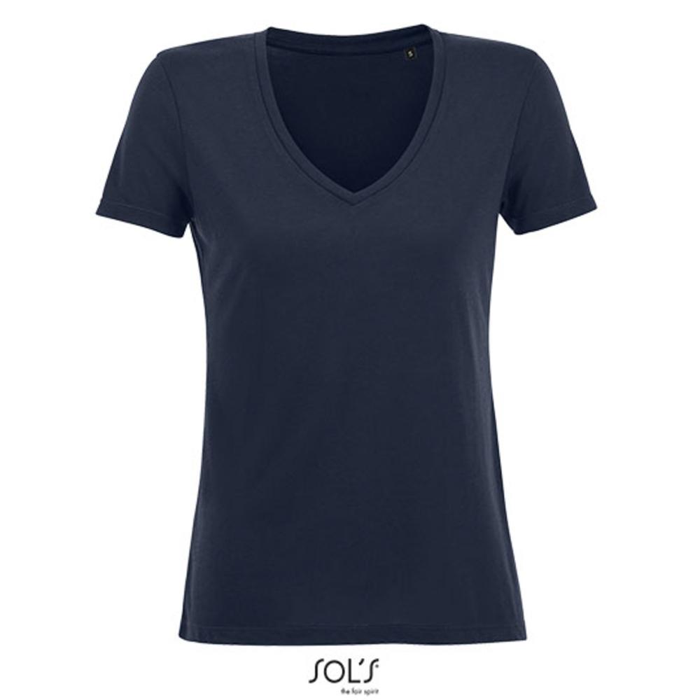 Camiseta fluida con cuello en V para mujer Motion