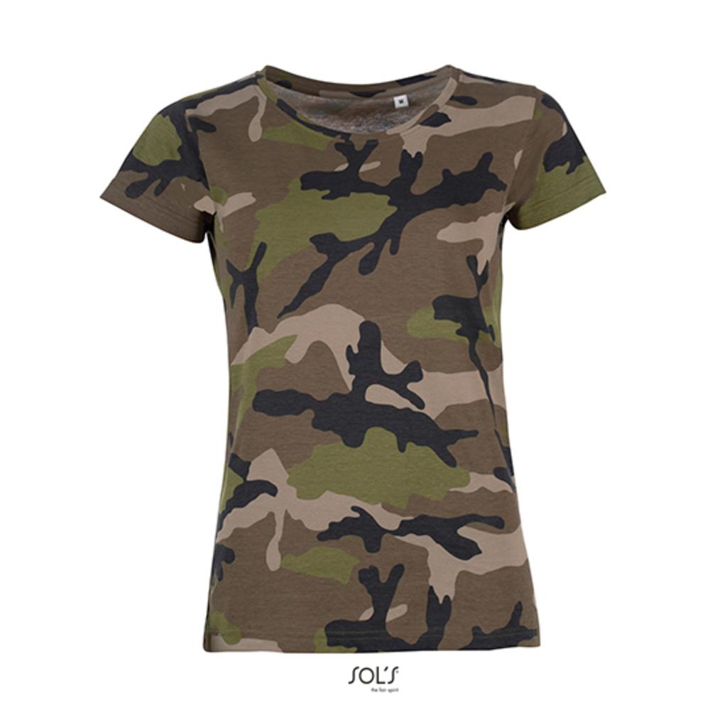 T-shirt camouflage pour femme